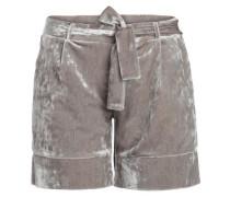 Velours Shorts schlammfarben