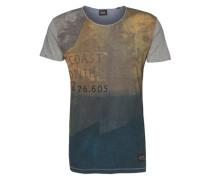 T-Shirt 'Deniz' blau / grau