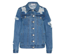 Jeansjacke mit Cut Outs blau