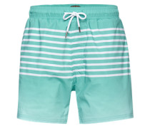 Badeshorts 'stripe Short' mint / weiß