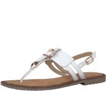 Sandale 'Schnalle' weiß