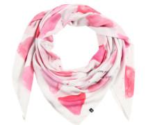 Tuch mit Allover-Print rosa / weiß