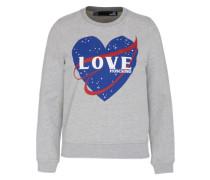 Print-Sweater blau / grau / rot