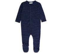 Woll-/Baumwoll-Schlafanzug ultramarinblau / dunkelblau