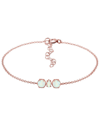 Armband opal / rosegold