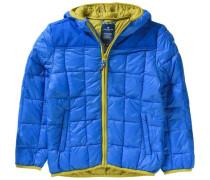 Winterjacke für Jungen royalblau / hellgrün