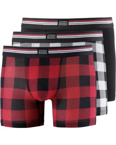 Boxer grau / rot / schwarz