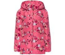Blumen-Jacke 'nitmello' hellgelb / pink / schwarz / weiß