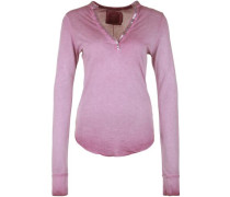Longsleeve 'polo Standup Paillette' pink