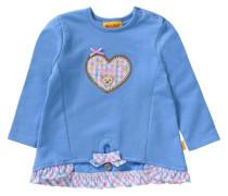 Baby Sweatshirt für Mädchen Oktoberfest himmelblau / pink / weiß