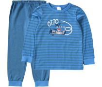 Schlafanzug für Jungen blau