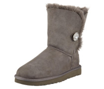 Fellstiefel 'Bailey Button Bling' grau