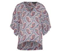 Bluse aus Viskose-Seidenmix mischfarben / pink