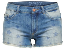 Jeansshorts Carrie low blau