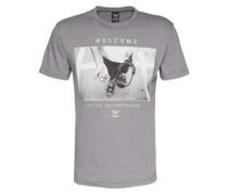 Print Shirt 'Neighbourhood' grau