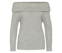 Pullover 'sunday OFF Shoulder' grau