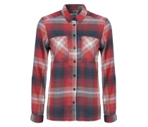 Karobluse in Flanell-Optik blau / rot
