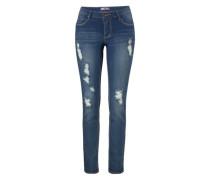 5-Pocket-Jeans »destroyed« blue denim