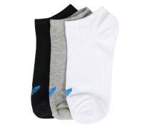 Sneakersocken im 3er Pack grau / schwarz / weiß