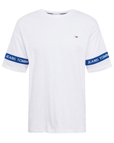 Shirt 'tjm ARM Band Tee' blau / weiß