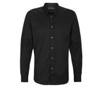 Slim: Stretchiges Hemd schwarz