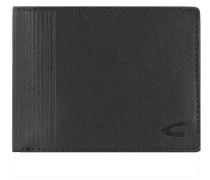 Safino Geldbörse Leder 12 cm schwarz