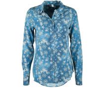 Bluse Basic Star Cold Dyed blau