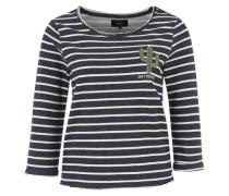 Sweatshirt mit Streifen 'Onlmilan' dunkelblau / weiß