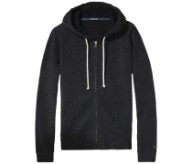 Homewear 'Sammee shimmer zipthru hoody' schwarz