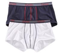 Hipster Pants (2 Stück) Kontrastnähte vorn und weicher Webbund kobaltblau / rot / weiß