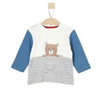 Langarmshirt mit Bärchen-Print blue denim / braun / grau / weiß