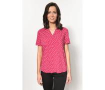 Bluse mit schönem Print rot