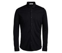 Langarmhemd Jersey schwarz