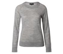 Strickpullover aus Wolle grau