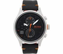 Multifunktionsuhr 'amsterdam 1550020' orange / schwarz / silber