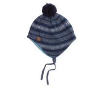 Mütze mit Fleece-Futter blau / weiß