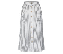 Rock 'mark Stripe Button Through Linen Midi'