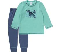 Schlafanzug für Jungen dunkelblau / grün