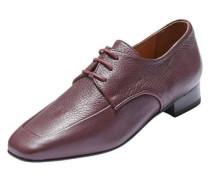 Derby-Schuhe weinrot