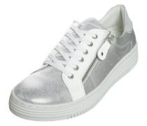 Sneaker mit Reißverschluss grau / weiß