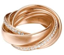 Ring mit Glasstein gold