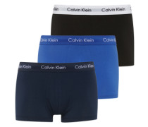Retro-Boxershorts im 3er Pack blau / schwarz