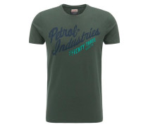 T-Shirt navy / grün