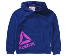 Sweatshirt mit Kapuze für Mädchen blau / neonpink