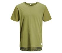 T-Shirt Lang geschnittenes oliv