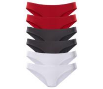 Bikinislips (6 Stck.) rot / schwarz / weiß