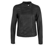 Bikerjacke im Leder-Look schwarz