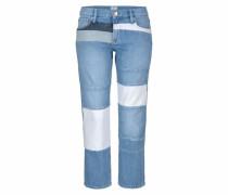 7/8-Jeans 'layercake' blue denim