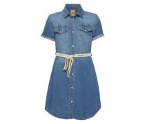 Jeanskleid mit Gürtel blue denim