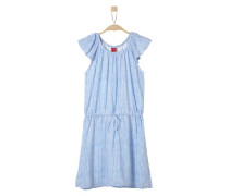 Sommerliches Streifenkleid hellblau / weiß
